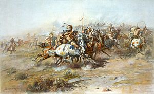 300px-Charles_Marion_Russell_-_The_Custer_Fight_(1903)