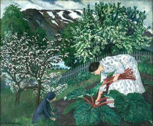 Nikolai Astrup (Norwegian) - Rhubarb